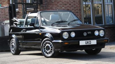 VW GOLF GTI CABRIOLET 8V 2DR BLACK 1989