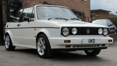 VW GOLF MK1 CABRIOLET CLIPPER 1.8 2DR WHITE 1992